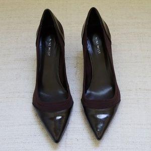 NINE WEST Pointed Toe Brown Heels